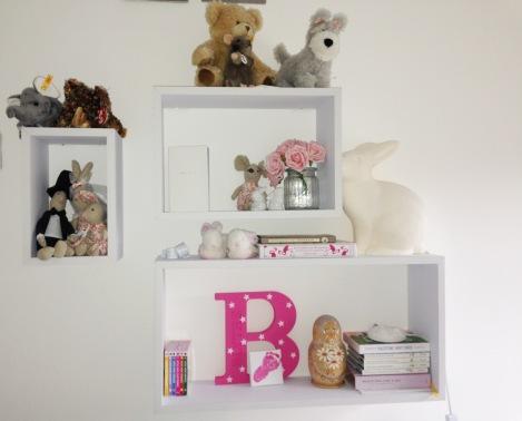 Bourn Sitsters bookshelf